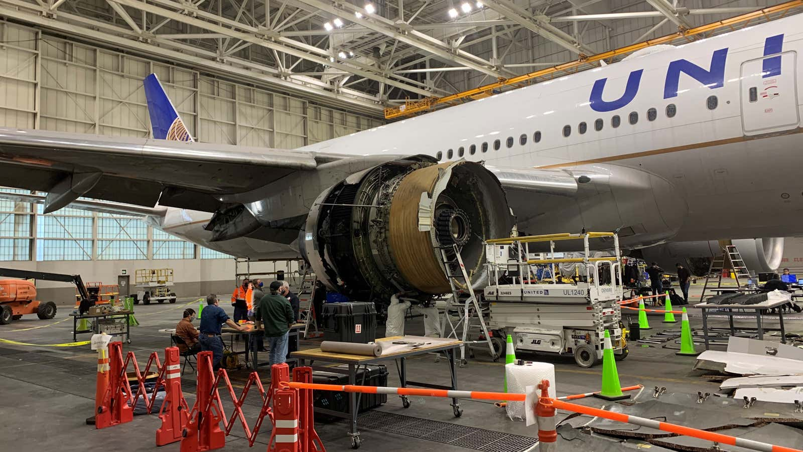 That Boeing 777 Engine Failure Actually Tore A Hole In The Plane's Fuselage