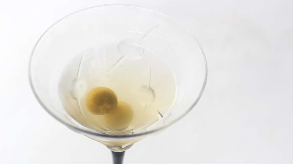 Make a Streamlined Dirty Martini With Freezer-Cold Gin