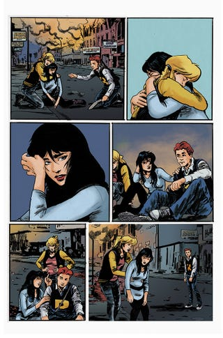 An exclusive first look at the interior art from Archie vs. Predator 2 #1.