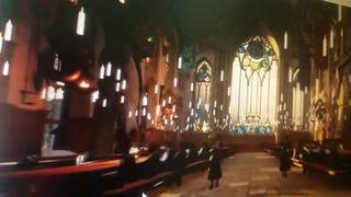 El salón principal de Hogwarts.