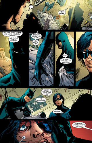 When Checkmate and the Outsiders teamed up, Batman finds out that Sasha Bordeaux had been horribly tortured.