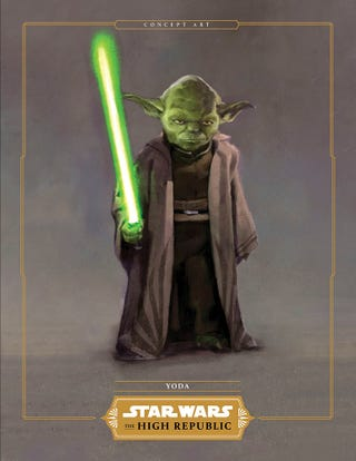 Yoda's mission gear, much in line with what we've seen him in before.