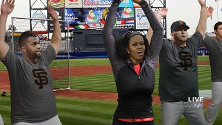 Michelle Obama Introduces Exercise Program To Combat Obesity In Professional Baseball Players