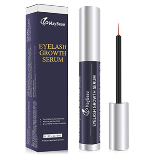 32% off + $5 off on Eyelash Growth Serum, MayBeau Eyebrow Growth Serum, Natural Brow Enhancer Lash Booster Serum for Longer Thicker Luscious Lashes and Eyebrows with Muti-use code: 6KSAJB3M