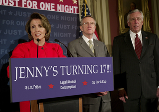 Congress Lowers Drinking Age To 17 Just For Jenny's Party