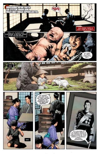 All Images: Story by Joshua Dysart, Art by Mico Suayan, CAFU, and Andrew Dalhouse, and Lettering by Dave Sharpe.