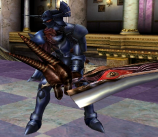 In the first SoulCalibur, released in 1998 for arcades and 1999 for the Dreamcast, Nightmare's design focused on three things: His claw of a right arm, the Soul Edge blade, and the horned helmet. His armor was plain and broken up by small bits of chainmail. That armor's design isn't very interesting, but it didn't have to be: his torso-sized claw and gory sword said what it needed to say. Source: SoulCalibur Wiki.