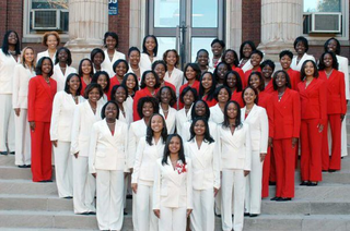 Proselyte Day 2004: A tradition at Alpha Chapter, Delta Sigma Theta Sorority, Inc in which the freshman women are welcomed to Howard and introduced to the sorority and the newest line in the chapter. Kwubiri served as Proselyte chair.