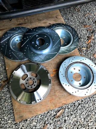New flywheel and rotors.