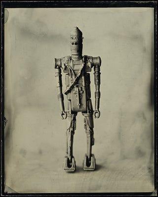Illustration for article titled These Tintype Photos of iStar Wars/i Toys em/emWill Make You Nostalgic on Multiple Levels
