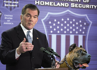 Department Of Homeland Security Deputizes Real Mean Dog