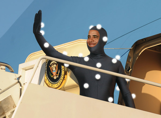 Obama Outfitted With 238 Motion Capture Sensors For 3-D Record Of Presidency