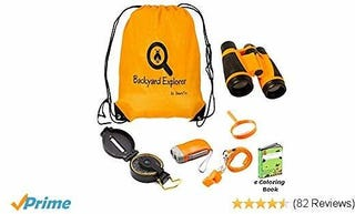 Illustration for article titled Outdoor Explorer Childrens Toys - Binoculars, Backpack, Magnifying Glass, Flashlight for Kids Adventure and Exploration, Educational Kit for Boy and Girl Gift Ages 5 9 For Birthday