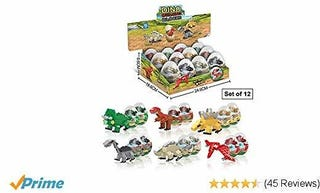 Illustration for article titled Dinosaur Toys - 12 Surprise Dinosaur Eggs Building Blocks STEM Toys for Boys  Girls - 7-in-1 Kids Toys - Educational Toys Perfect for Dinosaur Party Favors for Kids  Dinosaur Party Supplies