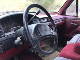 It looks like a tour bus steering wheel because it is, Ford took its time to give us better wheels.