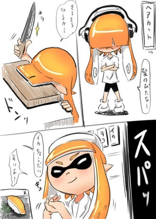 Getting A Haircut In Splatoon 2 Seems Like It Would Hurt