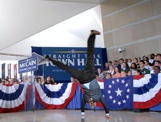 McCain Silences Critics With Perfectly Executed Cartwheel