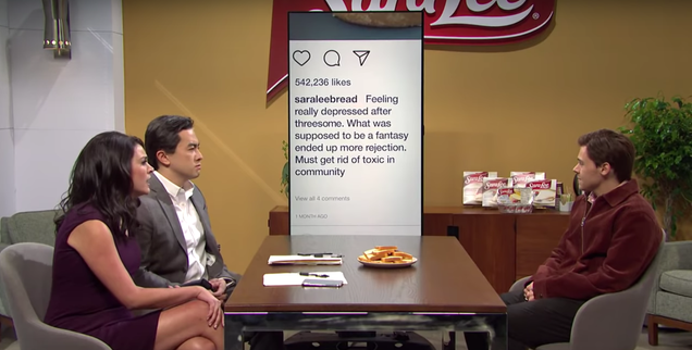 "Snack boss Sara Lee is taking that SNL skit ""in stride"""