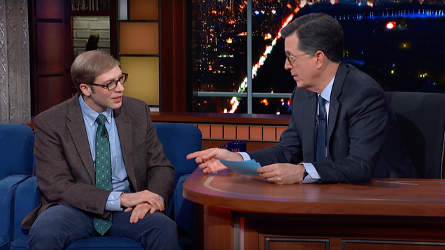 Joe Pera talks with Stephen Colbert about Joe Pera Talks With You