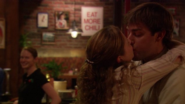 The Office's John Krasinski and Jenna Fischer don't agree on which kiss was Jim and Pam's first kiss
