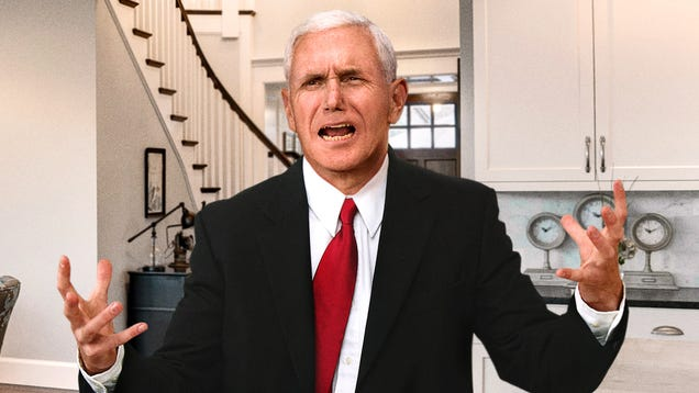Sweating, Grunting Mike Pence Straining To Rapture Himself Before Impeachment Inquiry Goes Any Further