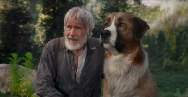 Harrison Ford does most of the growling in the trailer for Call Of The Wild