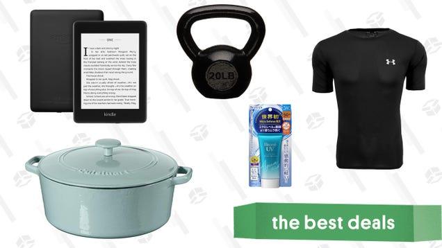 Saturday s Best Deals: Cuisinart Cast Iron, AmazonBasics Kettlebells, Sunscreen, Kindles, and More