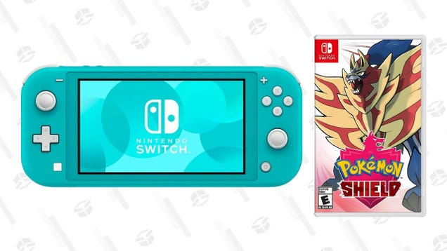 Pick Up a Nintendo Switch Lite Plus Pokemon Shield For $30 Off