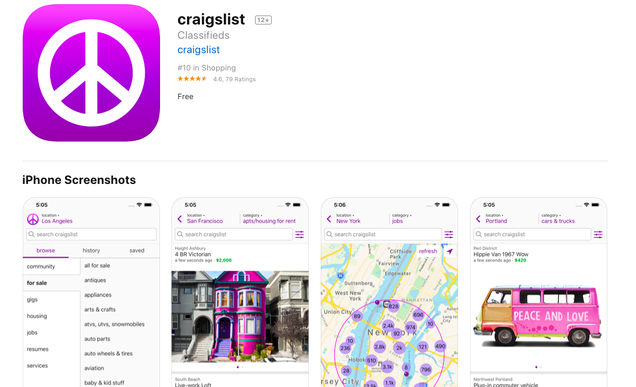 If The New Craigslist App Had Come Any Sooner My Life Would
