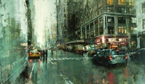 The beautiful city paintings of Jeremy Mann