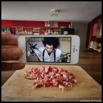 Blending movie scenes with real life