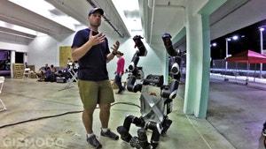 On Site at the Machine Olympics of DARPAS Robotics Challenge
