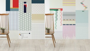 These Abstract Wallpaper Rolls Let You Mix and Match Like a Madman