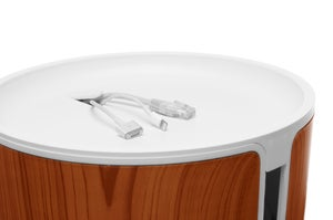 Hide Your Messy Nest of Cables In This Neat Wood-Paneled Can