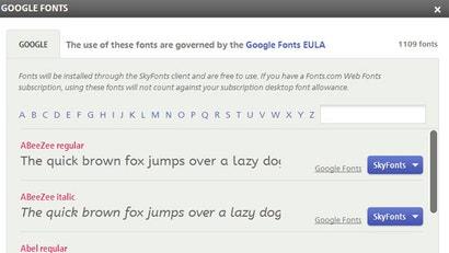 Google fonts for mac