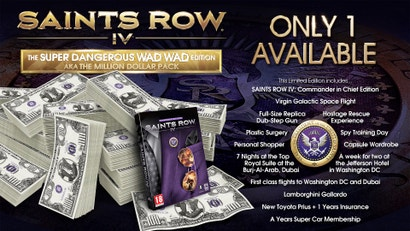 Very Special Edition of Saint's Row IV Costs $US1,000,000