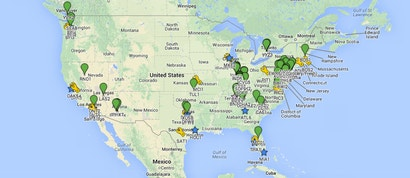 A Map Of Amazon's Empire Of Warehouses And Shipping Centres