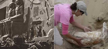 Unearthing 91-Year-Old Sphinxes From the Buried Ten Commandments Set