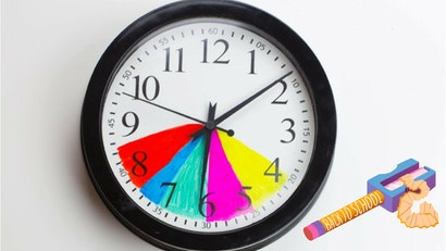 Make After-School Routines Easier By Colour-Coding A Clock