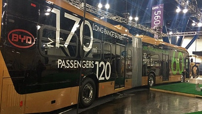 The World's Largest Battery-Electric Vehicle Is This Articulated Bus