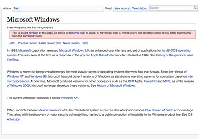 The Very First Wikipedia Entries for 19 Tech Icons