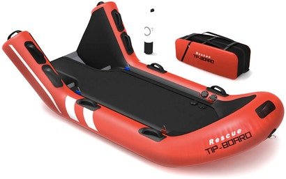 Tipping Rescue Raft Makes It Easier To Pull People From the Water