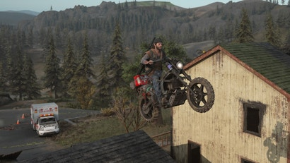 days gone ps4 motorcycle stunt race