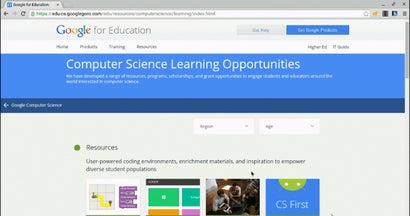 Find Opportunities To Learn Computer Science At Google's New Portal