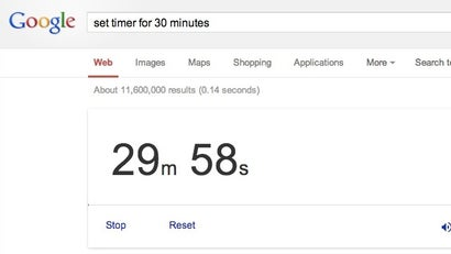Use Google As A Timer With A Simple Search Command