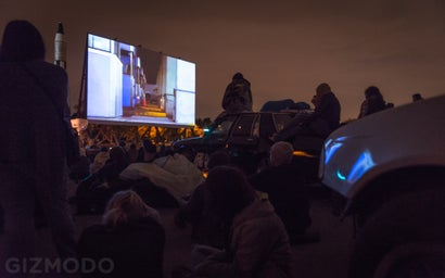 This Drive-In Theatre Uses Junk Cars As Audience Seating