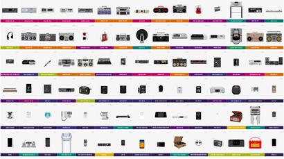A Beautiful Illustration Of The Evolution Of Audio Equipment
