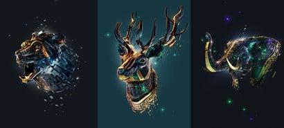Beautiful CGI portraits of mythological animals by Adam Spizak