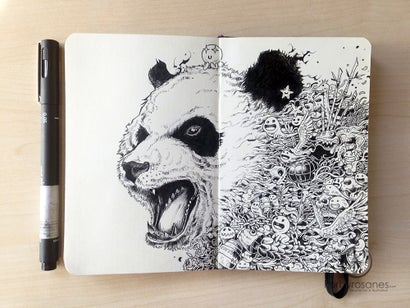 The Insanely Intricate Doodles Of Kerby Rosanes