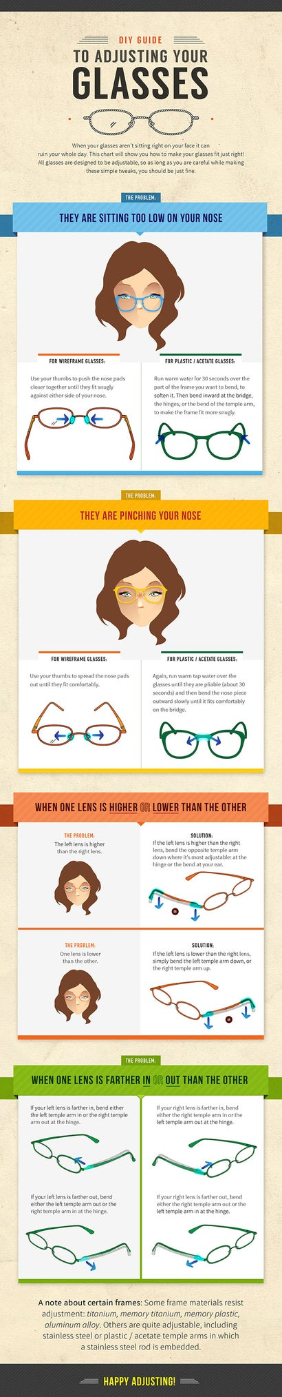 A DIY Guide To Adjusting Your Own Glasses